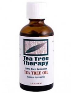 The tea tree oil to treat fungal infection